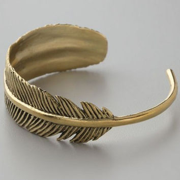 Vintage Exquisite ~ Feather Cuff Bracelet