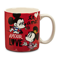disney store mickey and minnie love amour te amo new with box