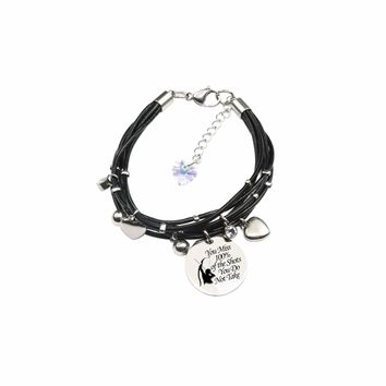 Genuine Leather Bracelet Made With Crystals From Swarovski - Shots You Don'T Take