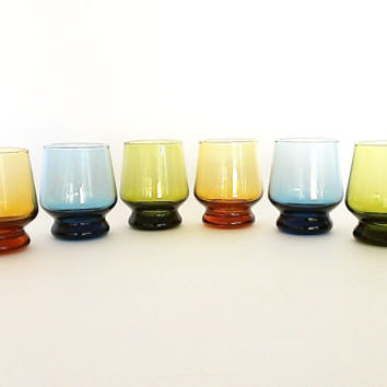 Stacking Juice Glass Mid Century Lowball Vintage Barware