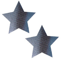 Carbon Fiber Silver Star Pasties