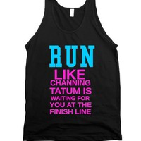 Run For Channing Tatum-Unisex Black Tank