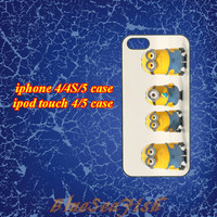 iphone 4 case,iphone 4s case,iphone 5 case,ipod touch 4 case,ipod touch 5 case--Despicable Me Minion,in plastic and silicone
