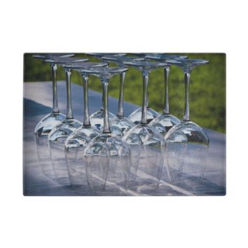 Wine Party Glass Cutting Board