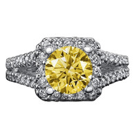 Halo diamonds 3 carat engagement ring double row diamond ring gold white
