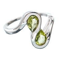 Peridot Sterling Silver Infinity Ring