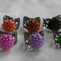 Vintage Resin Flower Ring