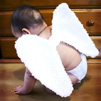 6 to 12m Baby Angel Wings, Fairy Wings, Angel Costume Wings, White Crochet Angel Baby Wings, Fairy Costume, Angel Photo Prop, Baby Dress Up