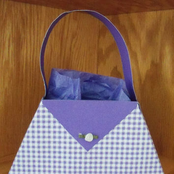 Purple Gingham Paper Purse by SuperCraftyLady on Etsy