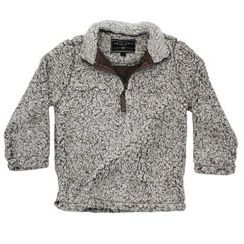 CHILD'S Frosty Tip 1/4 Zip Pullover in Brown by True Grit