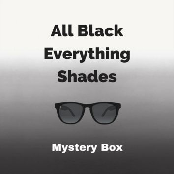 All Black Mystery Box - 5 Black Shades + 1 Black Hat