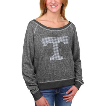 Tennessee Volunteers My U Women's Rhinestud Logo French Terry Long Sleeve Pullover Sweatshirt – Black