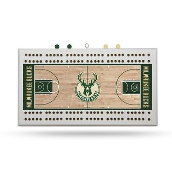MILWAUKEE BUCKS COURT CRIBBAGE BOARD