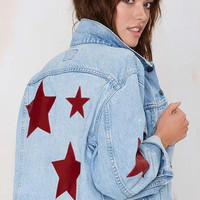 Starstruck Patched Denim Jacket