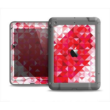 The Geometric Faded Red Heart Apple iPad Air LifeProof Nuud Case Skin Set
