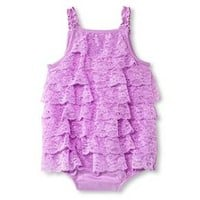 Cherokee® Baby Girls' Lace Romper - Violet
