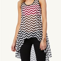 Chiffon High Low Tank