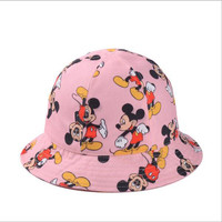 New Fashion Cartoon images Summer Hats for Women Causal Dome Visor Fishing Bucket Cap Travel Outdoor Woman Hat