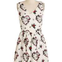 Quirky Mid-length Tank top (2 thick straps) A-line Zeal it in My Bones Dress