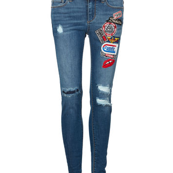 Patch Attitude Skinny Fit Denim Jeans