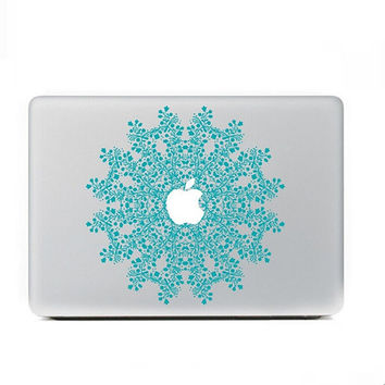 "Blue Floral MacBook Skin Decal Sticker for Apple Macbook Pro Air Mac 13"" inch Laptop 13 Inch N0010"