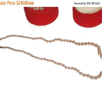 CIJ SALE Vintage, Gumps Pearl Necklace, with original gift box, Mother's Day Gift