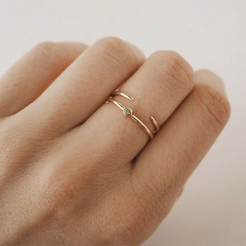 Simple gold ring - Thin ring - Stacking ring - Tiny ring