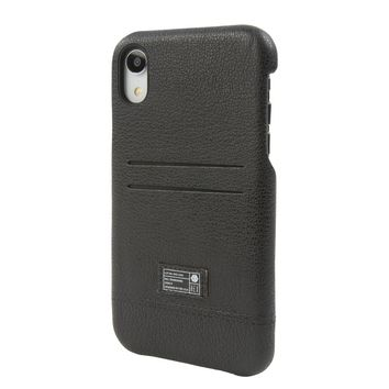 HEX - Shield Wallet Black Leather iPhone XR Phone Case