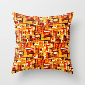 Burnt Orange Throw Pillow by Rokin Art by RokinRonda