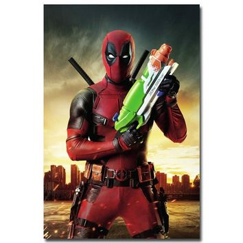 Deadpool Dead pool Taco NICOLESHENTING  Wade Wilson Art Silk Poster Print 13x20 24x36 inch Movie Comic Pictures Living Room Decor DO17 AT_70_6