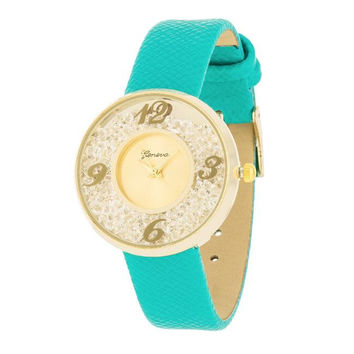 Gold Watch With Leather Strap