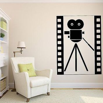 Wall Vinyl Sticker Decal Abstract Vintage Film Camera Symbol Hollywood Unique Gift (n041)
