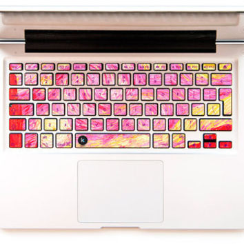 Pink night - Van Gogh inspired decal keyboard sticker for Macbook Lenovo Asus Sony Dell HP Acer Samsung Toshiba Yellow Pink Spring