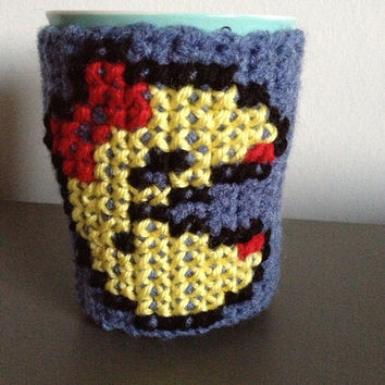 Stocking Stuffer Arcade Video Game Mug Cozy - Geekery Cup Cozy - Arcade Gamer Kitchen Accessory - Retro Collector Item