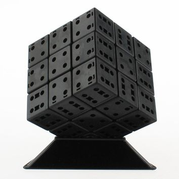 LeadingStar 3rd order DIY Bandaged Cube Black Magic Cube with Plastic Color Stickers Brain Teaser Puzzle for Magic Cube zk40