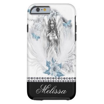 Personalized Iphone 6 Case/Diamonds & Fairy Tough iPhone 6 Case