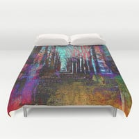 In the Forest Duvet Cover by Haroulita