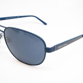 Giorgio Armani AR 6036 3137/87 Blue Rubber Sunglasses