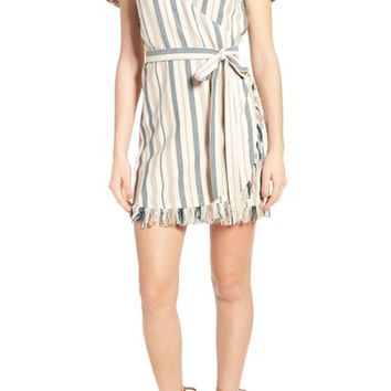 Tularosa Didion Stripe Wrap Dress | Nordstrom