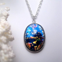 Dark Opal Necklace - Pendant - Opal Jewelry