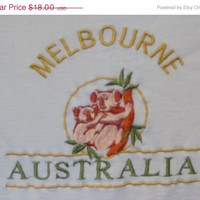 Koala Bears Melbourne Australia Embroidered T Shirt Pastel Yellow t shirt