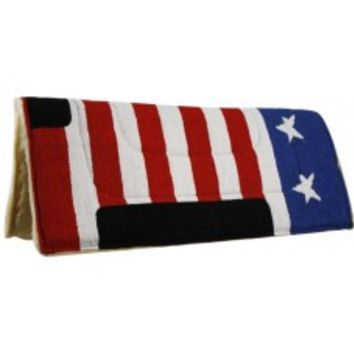 American flag saddle pad, 30 x 32 saddle pad
