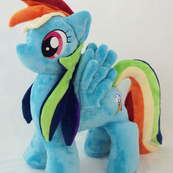 "Mlp RAINBOW DASH Plush Custom Made Open Commission 17"" by Ponypassions"