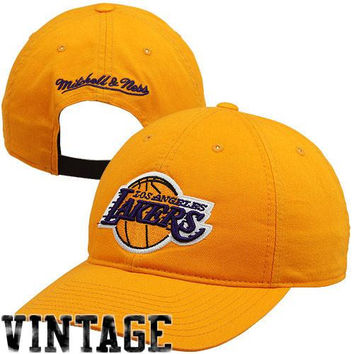 Mitchell & Ness Los Angeles Lakers Hardwood Classics Team Issue Adjustable Hat - Gold
