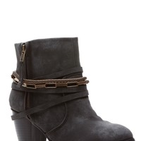Black Faux Nubuck Chunky Western Ankle Booties @ Cicihot Boots Catalog:women's winter boots,leather thigh high boots,black platform knee high boots,over the knee boots,Go Go boots,cowgirl boots,gladiator boots,womens dress boots,skirt boots.