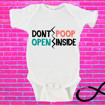 Don't Open Poop Inside The Walking Dead Gerber Onesuit ®