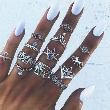 Vintage Knuckle Midi Ring Set
