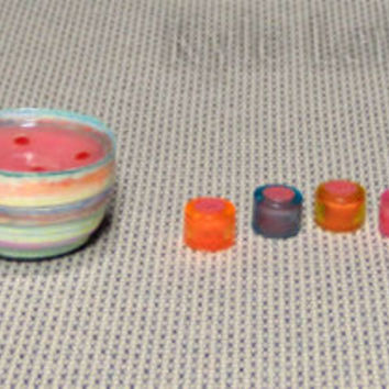 Dollhouse Miniature Punch Bowl Set - Artisan Handmade - Colorful Party Punch