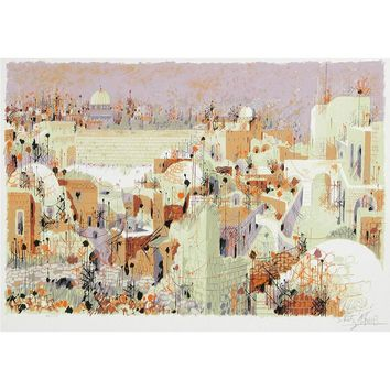 View of the Western Wall II by Shemuel Katz, Art Size: 20 H x 28 W