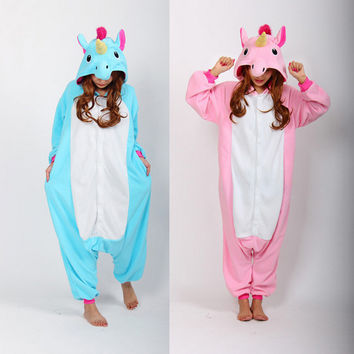 Cartoons Animal Couple Winter Unicorn Home Sleepwear Halloween Costume [9220980868]